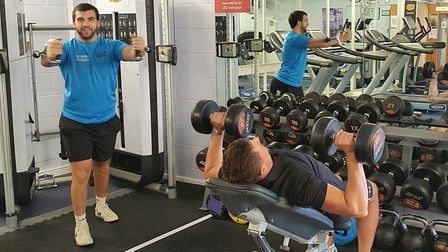 Socially distanced work-out. Picture: LED Leisure