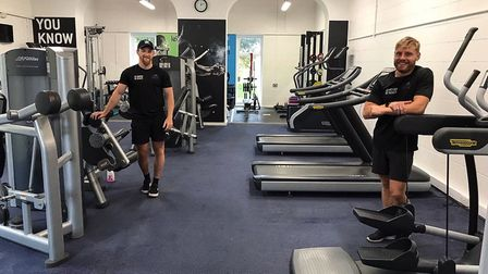 LED Ottery Leisure Centre with leisure manager Simon Price (right). Picture; LED Leisure