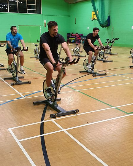 Social distancing in the gym at LED Sidmouth. Picture: LED Leisure
