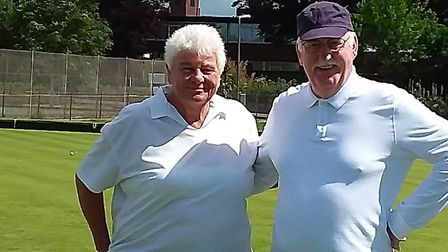 Jane and Chris, who enjoyed the Monday bowling. Picture; CAROL SMITH