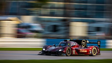 Harry Tincknell in action during the IMSA Sebring Grand Prix. Picture; AL ARENA