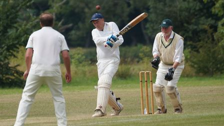 Tipton St John batsman Phil Tolley who scored 101 before retiring not out in the meeting with Dunsf