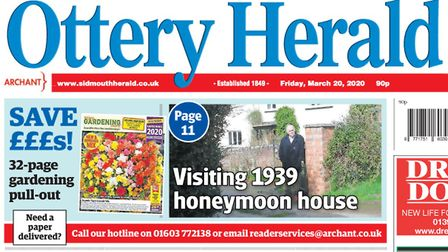 Publication of the Ottery Herald will start again with the issue for Friday, July 31 Picture: Archan