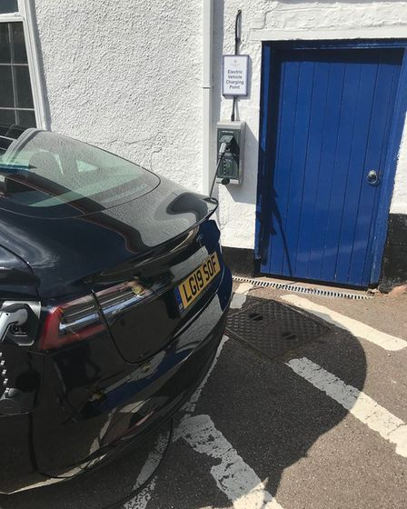 Electric car charging point at The Woodlands Hotel. Picture: Dan Cozens