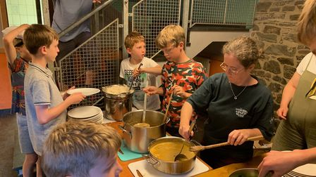Cooking a meal with the scouts. Picture: 1st Ottery Scout Group