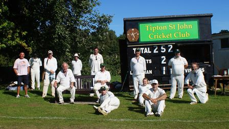 The Tipton cricketers in action for the first time in the 2020 season, albeit three months after the