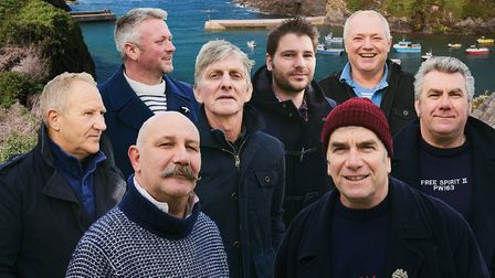 The Fishermen's Friends, one of the bands offering 'rewards' to festival donors. Picture; The Fisher