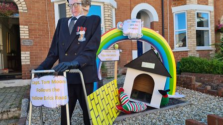 An entry in Temple Street for the Sidmouth Scarecrow competition. Picture: Helen Nelhams