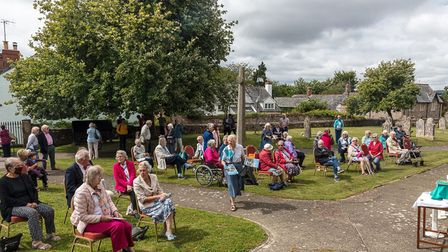 The socially distanced farewell service for Revd Stephen Weston. Picture: Jan-Eric Osterlund