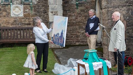 Revd Steve Weston, with wife Cathy and granddaughter Flo. Picture: Jan-Eric Osterlund