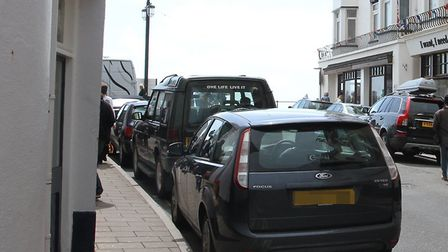 Irresponsible parking in Sidmouth. Picture: Archant