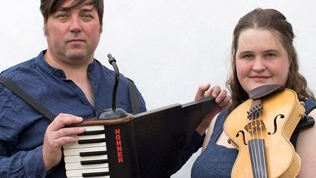 John Spiers and Jackie Oates at this year's online Sidmouth Folk Festival Picture: Sidmouth Folk Fe