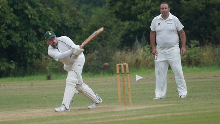 Tipton batsman David Thayre who scored 33 in the 22-run defeat at the hands of Exeter-based Bakers C
