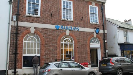 The Sidmouth branch of Barclays bank. Photo by Simon Horn. Ref shs 1434-05-14SH. To order your copy
