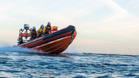 Sidmouth lifeboat at sea. Picture: Kyle Baker Photography