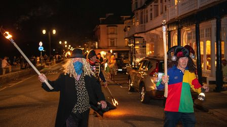 Sidmouth's torchlight parade. Picture: Kyle Baker Photography