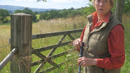 Bronwen Gundry in front of one of her meadows. Picture: Charles Sinclair