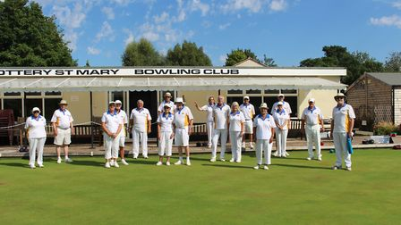Ottery St Mary bowlers that took part in the Saturday action. Picture:OSMBC