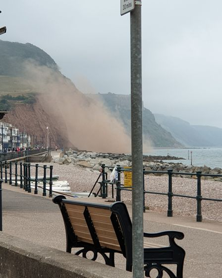 Sidmouth cliff fall. Picture: Vicki Lomas