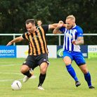Action from the pre-season friendly between Axminster Town and Ottery St Mary. Picture: SARAH MCCABE