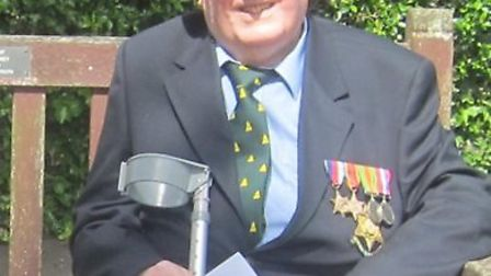 Sidmouth-based WW2 veteran Colin James Scherf who wants people to recognise VJ Day in the same spirt