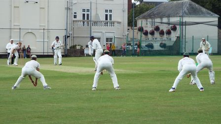 Action from the opening league campaign for Sidmouth Cricket Club and Seaton Cricket Club. Picture: