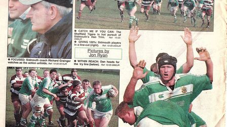 Sidmouth Herald reporting of the Sidmouth Chiefs big 2005 cup semi-final meeting with Sheffield Tige