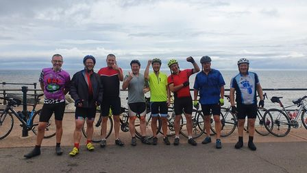 The cyclists who rode from London to Sidmouth for Alzheimer's Research. Picture: Louise Hilderly