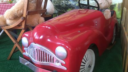 The collection began in 1959, with a bright-red Austin pedal car, which can still be seen on display
