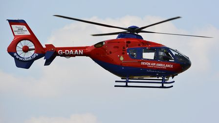 The Devon Air Ambulance. Picture: SUBMITTED