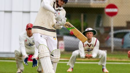 Zac Bess batting for Sidmouth at home to Torquay. Ref shsp 23-17TI 3905. Picture: Terry Ife