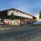 An artist's impression of the redeveloped B&M store in Clevedon.