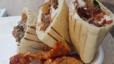 A shawarma sold from a garage in Sidmouth. Picture: Ed McLachlan
