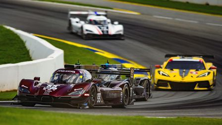 Harry Tincknell leading the way at the IMSA WeatherTech Sportscar six-hour endurance race at Road At