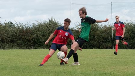 Action from the Ottery St Mary Development XI 3-2 win at Bradninch. Picture: MATT FLETCHER