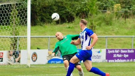 Action from the Ottery St Mary pre-season game at Axminster Town that ended 0-0. Picture SARAH MCCAB