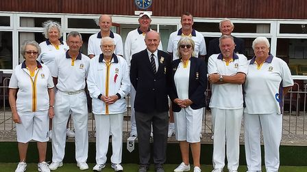 Some of the players involved in the 2019 Sidmouth Bowls Club finals. Picture; SBC