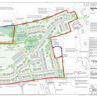 The layout plan for a new school and houses at Thorne Farm, presented in October's public consultati