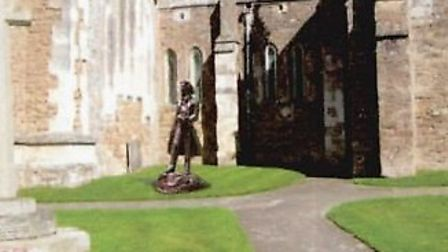 A perspective drawing of where the statue would be located outside the church. Picture: CHRISTOPHER