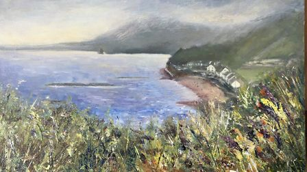 Artbeat exhibition: Painting by June Murrell - View from Salcombe Hill Picture: June Murrell