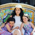 Mum-of-five Vicki Trebble Sargent with two of her daughters. Picture: Vicki Trebble Sargent