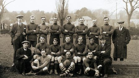 Sidmouth Rugby Club 1st XV from the 1920/21 season. Picture: SIDMOUTH RFC