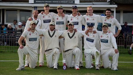 The Sidmouth 1st XI after their win over Heathcoat. Picture; SERENA KNOWLES