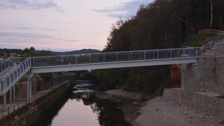 There is still work to be done before Alma Bridge opens in the sprinf of 2021. Picture: Andrew Coley