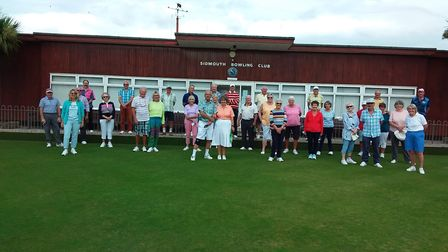 Sidmouth Bowls Club members at the club's Fun Day. Picture; CAROL SMITH