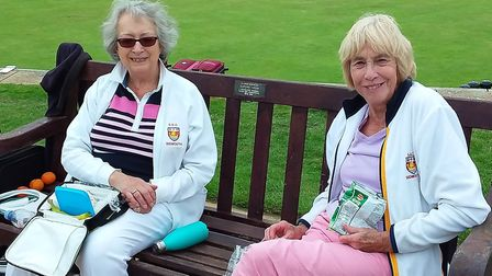 Jill and Ann enjoying their picnic at the Fun Day. Picture: CAROL SMITH