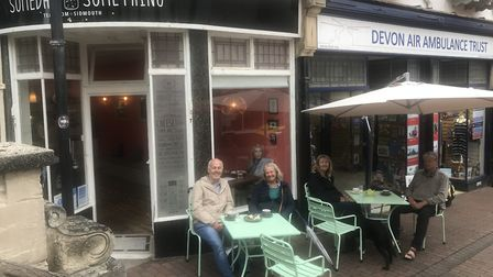 With the temporary traffic orders in place, traders were urged to make use of the space. Pictured are the tables at...