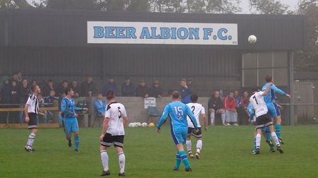 Beer Albion Reserves at home to Winkleigh in the Bill Slee Cup. Ref mhsp 44 19TI 2609. Picture: Terry Ife