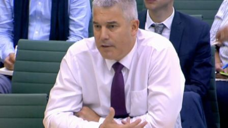 Stephen Barclay addresses the Brexit committee. Photograph: Parliament TV.