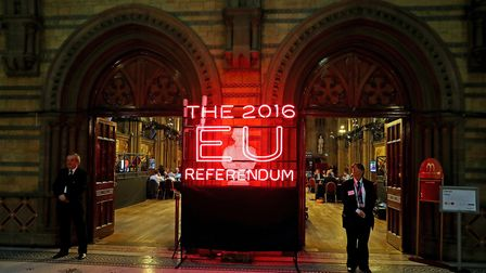 Manchester Town Hall, the setting for the national count in the EU referendum. Photograph: Peter Byr